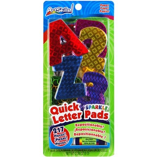 Quick Letter/Number Pads Repositionable-Holographic Sparkle 217 Pieces