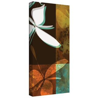 Jan Weiss 'Espresso Floral II' Gallery-Wrapped Canvas