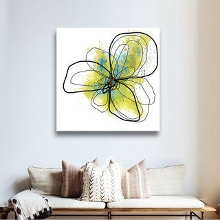 Jan Weiss 'Citron Petals II' Gallery-Wrapped Canvas