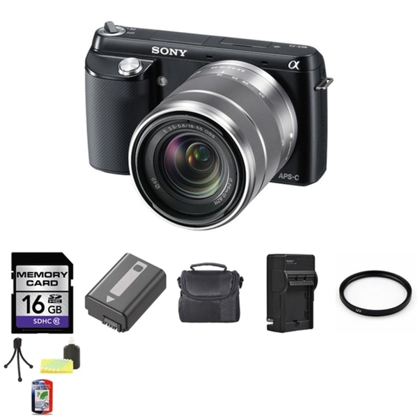 Sony Alpha NEX-F3 16MP Mirrorless Digital Camera with 18-55mm Lens and 16GB Bundle
