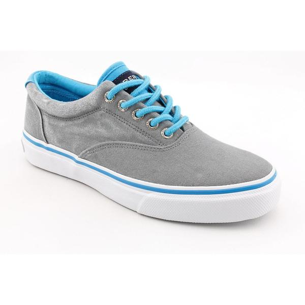 Sperry Top Sider Men's 'Striper Laceless CVO Canvas Neon' Canvas Casual Shoes