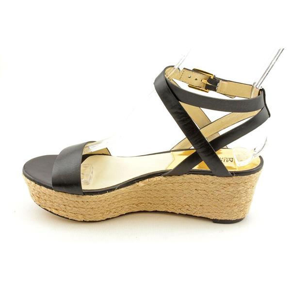 Shop Michael Kors Women's 'Jalita Wedge' Leather Dress Shoes