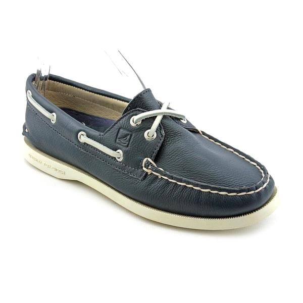 Sperry Top Sider Women's Navy Blue 'A/O 2-Eye' Leather Casual