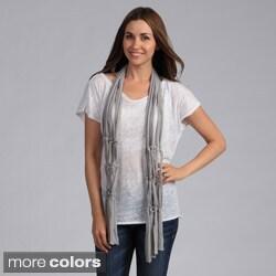 Saro Women's Jeweled Design Polyester Scarf
