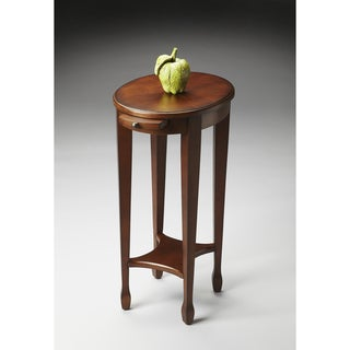 Handmade Chestnut Burl Round End Table (China)
