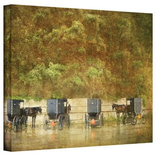 Antonio Raggio 'Carriages' Gallery-Wrapped Canvas