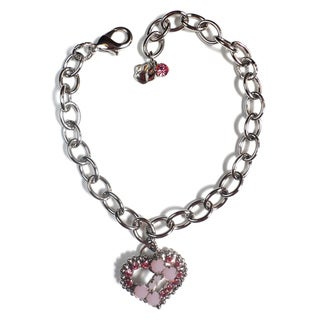 Buddy G's Austrian Crystal Heart/ Bone Link Collar