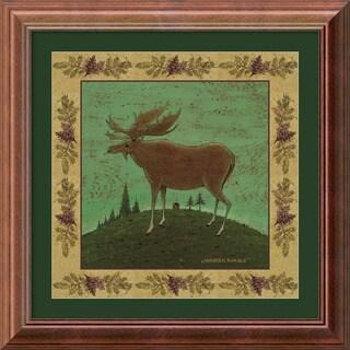 Warren Kimble 'Folk Moose' 14 x 14-inch Framed Art Print