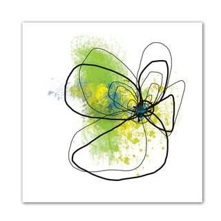 Jan Weiss 'Citron Petals ' Unwrapped Canvas