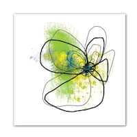 Jan Weiss 'Citron Petals ' Unwrapped Canvas