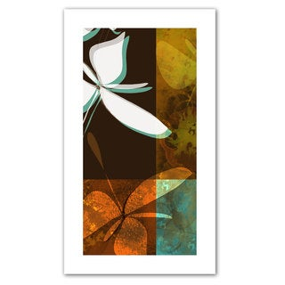 Jan Weiss 'Espresso Floral II' Unwrapped Canvas - Multi