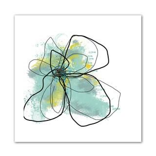 Jan Weiss 'Liquid Blue III' Unwrapped Canvas - Multi
