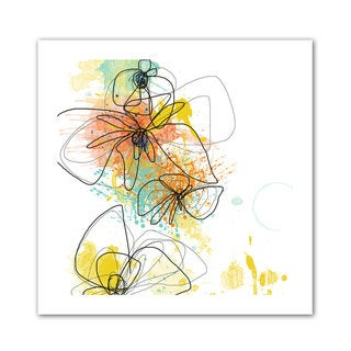 Jan Weiss 'Orange Botanica' Unwrapped Canvas - Multi