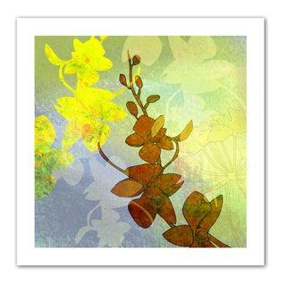 Jan Weiss 'Orchid Shadow' Unwrapped Canvas