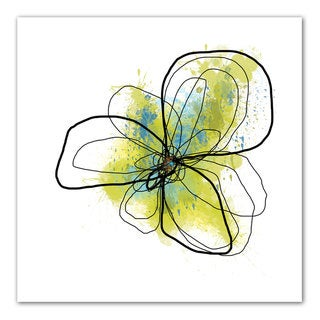 Jan Weiss 'Citron Petals II' Unwrapped Canvas