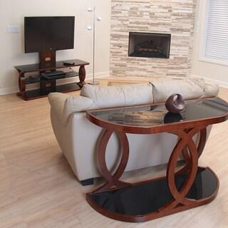 LumiSource Pesce Walnut Bent Wood Console Table