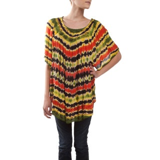 Handmade Rasta Boom Loose Fit Top (India)