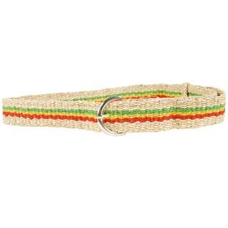 Handmade Classic Hemp Belt With Rasta Flair (Nepal)