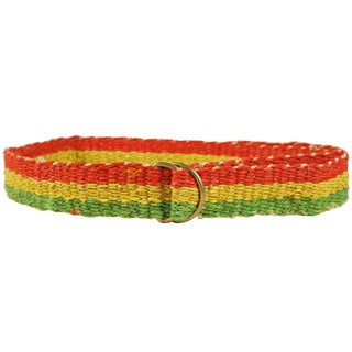 Handmade Rasta Pride Hemp Belt (Nepal)