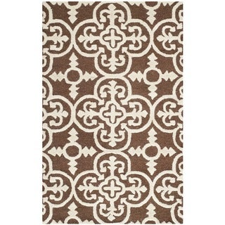 Safavieh Handmade Cambridge Moroccan Rectangular Dark Brown Wool Rug (3' x 5')