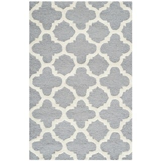 Safavieh Handmade Moroccan Cambridge Silver Wool Area Rug (2' x 3')