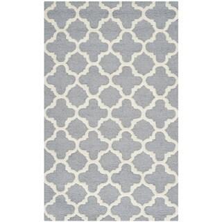 Safavieh Handmade Moroccan Cambridge Silver Wool Oriental Rug (3' x 5')