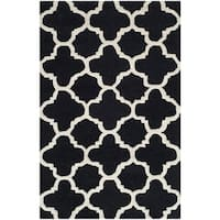 Safavieh Handmade Cambridge Moroccan Black Wool Accent Rug - 2'6 x 4'