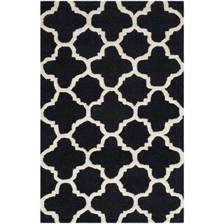 "Safavieh Handmade Cambridge Moroccan Black Wool Accent Rug (2'6"" x 4')"