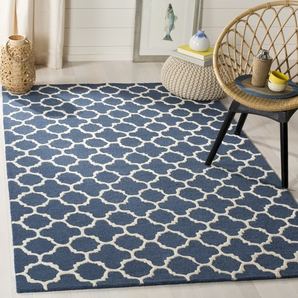 Safavieh Navy Handmade Moroccan Cambridge Wool Accent Rug ...