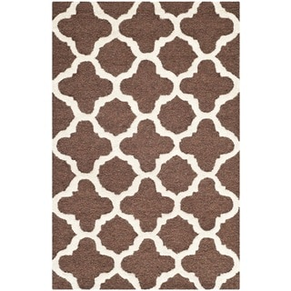 Safavieh Handmade Moroccan Cambridge Dark Brown Wool Rug (2'6 x 4')