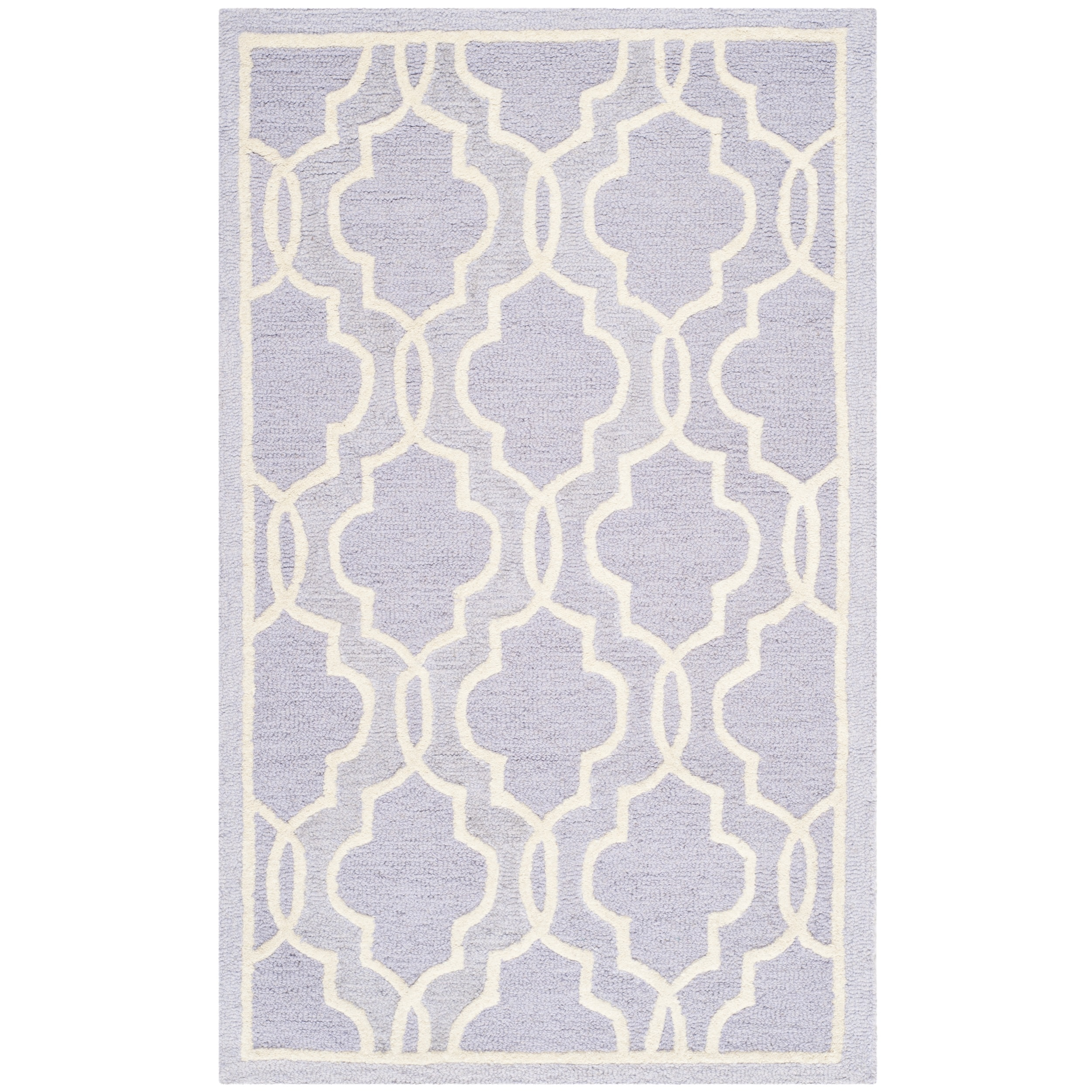 Moroccan Scroll Tile Light Blue Handmade Persian Style: Safavieh Handmade Cambridge Moroccan Lavander Indoor Wool