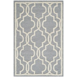 Safavieh Abstract Handmade Cambridge Moroccan Silver Wool Rug (2' x 3')