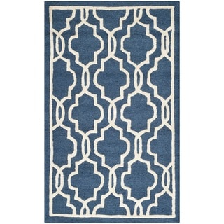 Safavieh Handmade Cambridge Moroccan Navy Geometric Wool Rug