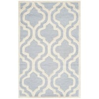 Safavieh Handmade Cambridge Moroccan Light Blue Wool Oriental Rug - 2'6 x 4'