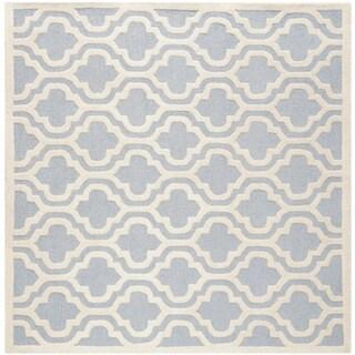 Safavieh Handmade Cambridge Moroccan Light Blue Wool Floor Rug (6' Square)