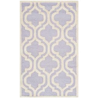 Safavieh Handmade Moroccan Cambridge Lavender Wool Oriental Rug (2' x 3')