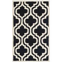 Safavieh Handmade Moroccan Cambridge Black Wool Rug (2' x 3') - 2' x 3'