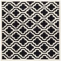 Safavieh Handmade Cambridge Moroccan Black Oriental Wool Rug - 6' Square