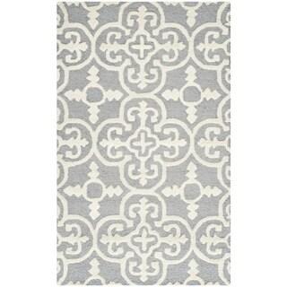 Safavieh Handmade Cambridge Moroccan Traditional Cross Pattern Blue/ Silver Wool Rug (2'6 x 4')