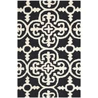 Safavieh Handmade Moroccan Cambridge Black Wool Rug - 2' x 3'