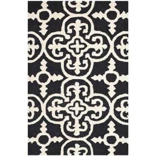 Safavieh Handmade Moroccan Cambridge Black Wool Rug - 2' X 3'