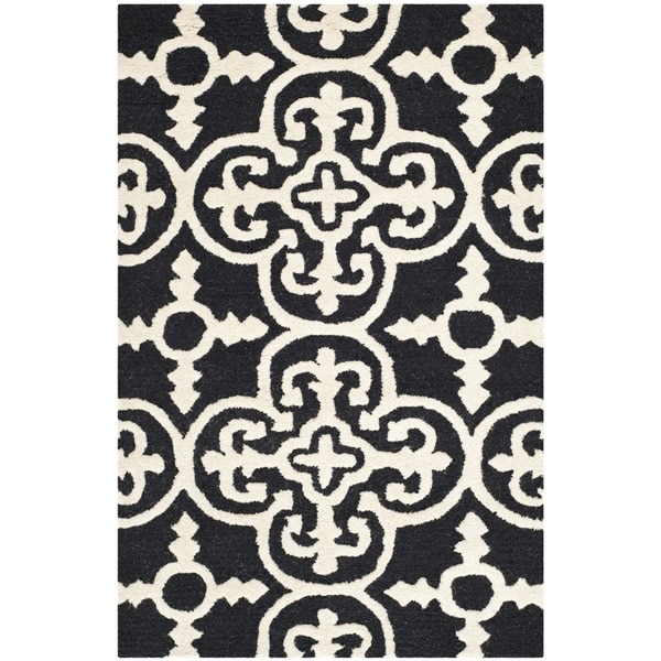 Traditional Safavieh Handmade Cambridge Moroccan Black Wool Accent Rug - 2&#x27 ...