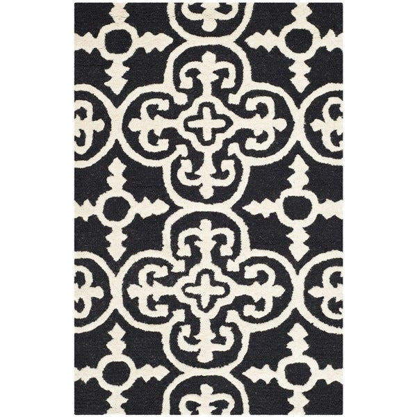 Safavieh Handmade Abstract Moroccan Cambridge Black Wool Rug - 3' x 5'