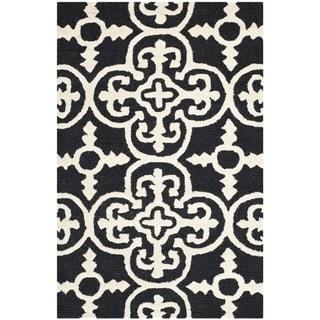 Safavieh Handmade Abstract Moroccan Cambridge Black Wool Rug (3' x 5')
