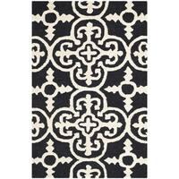 Safavieh Handmade Abstract Moroccan Cambridge Black Wool Rug - 3' x 5'