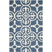 Safavieh Handmade Moroccan Cambridge Navy Wool Rug (2' x 3') - 2' x 3'