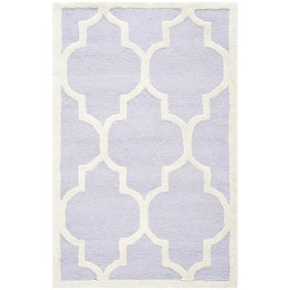 Safavieh Handmade Cambridge Moroccan Lavander Traditional Wool Rug (2'6 x 4')