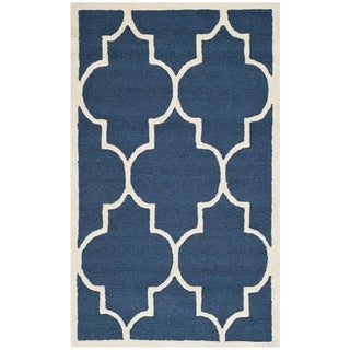 Safavieh Handmade Cambridge Moroccan Navy Wool Oriental Rug (3' x 5')