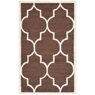 Safavieh Traditional Handmade Cambridge Moroccan Dark Brown Wool Rug (3' x 5')
