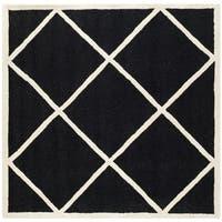 Safavieh Handmade Cambridge Moroccan Black Diamond Pattern Wool Rug - 6'